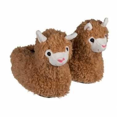 Alpaca/lama dierensloffen voor dames/heren