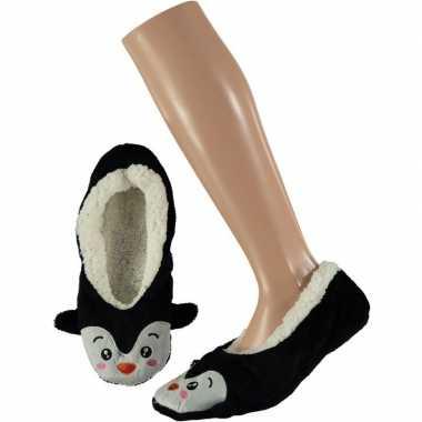 Ballerina huissloffen/sloffen pinguin voor meisjes