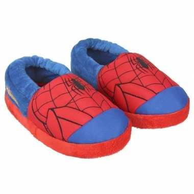Blauw/rode spiderman open sloffen voor jongens