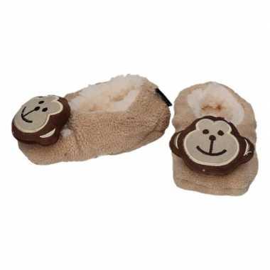 Cadeau kinderslofjes/sloffen aap