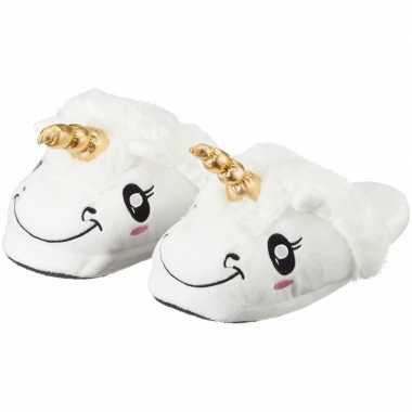 Cadeau kinderslofjes/sloffen eenhoorn/unicorn met anti slip zool voor