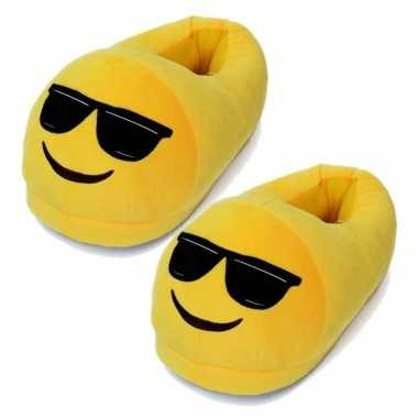 Dames coole smiley sloffen