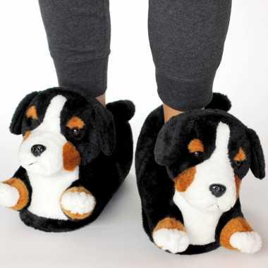 Dieren berner sennen hond sloffen/sloffen voor kinderen maat 34 36