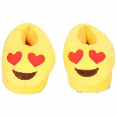 Emoticon sloffen hartjes ogen voor kinderen