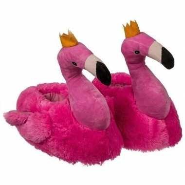 Flamingo sloffen roze voor kinderen
