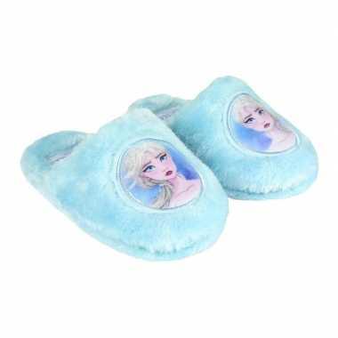 Frozen elsa pantoffel instappers lichtblauw voor meisjes