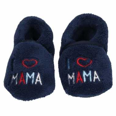 Geboorte baby kado babyslofjes i love mama
