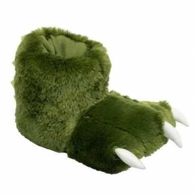 Groene poten sloffen voor kinderen