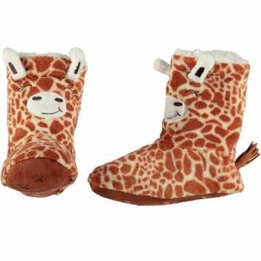 Hoge huissloffen/sloffen giraf voor kinderen