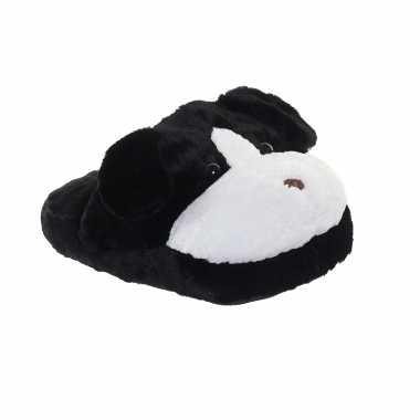 Honden voetenwarmer slof zwart voor kinderen/volwassenen