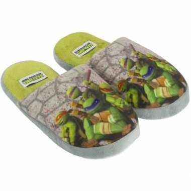 Kindersloffen van turtles grijs