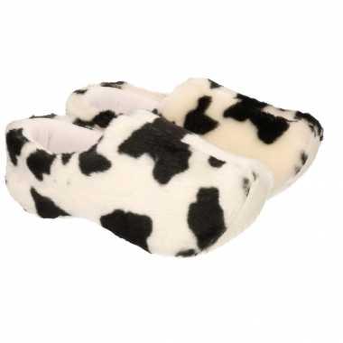 Koeienprint sloffen