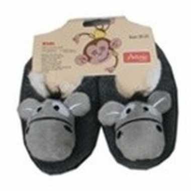 Kraamcadeau kinderslofjes/sloffen ezel