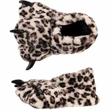 Luipaardpoot sloffen voor kinderen