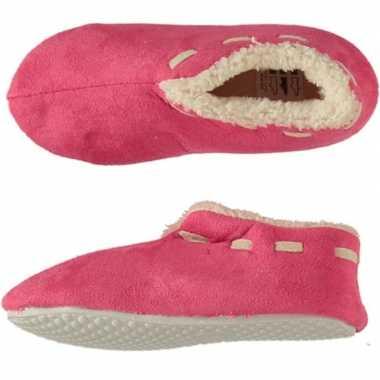 Meisjes spaanse sloffen/sloffen roze maat 35 36