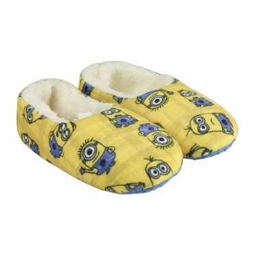 Minions pantoffeltjes slofjes kevin dave tim geel voor jongens