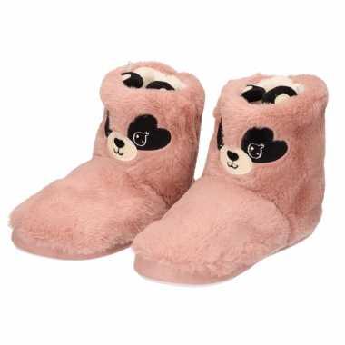 Pluche dieren sloffen/sloffen muis/muizen roze voor dames