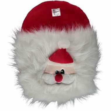 Pluche kerstman voetenwarmer/voetenzak