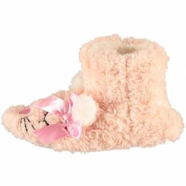 Roze hoge huissloffen/sloffen muizen voor meisjes/peuters