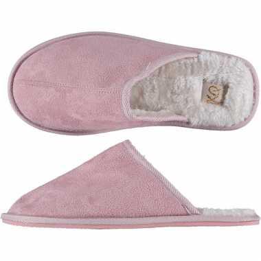 Roze instap sloffen/sloffen voor dames