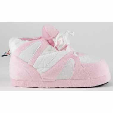 Roze wit basketbalschoen zachte sloffen voor meisjes