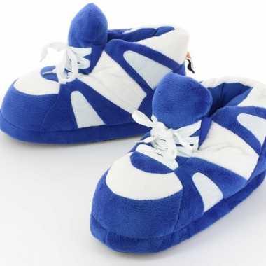 Sneaker sloffen/sloffen voor volwassenen blauw/wit 39/41