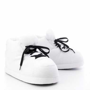 Sneaker sloffen/sloffen voor volwassenen wit maat 37/38