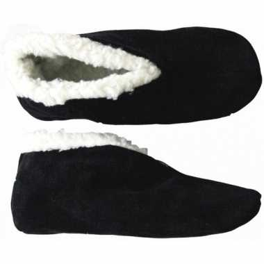Voordelige zwarte spaanse sloffen in schoenmaat 36