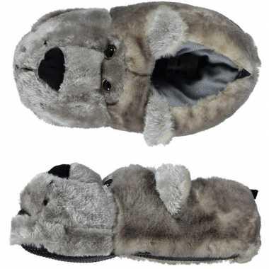 Warme sloffen/sloffen berenkop voor kinderen