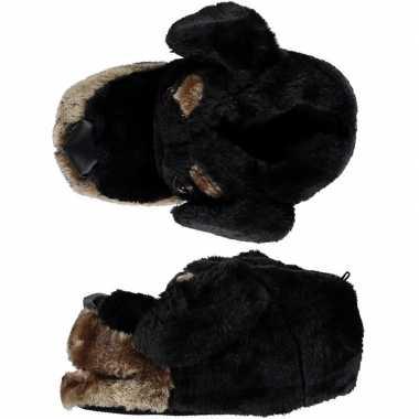 Warme sloffen/sloffen hondenkop voor kinderen