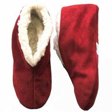 Warme wollen rode spaanse sloffen/sloffen voor dames/heren/volwassene