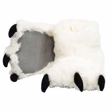 Witte ijsbeer poten sloffen voor kinderen