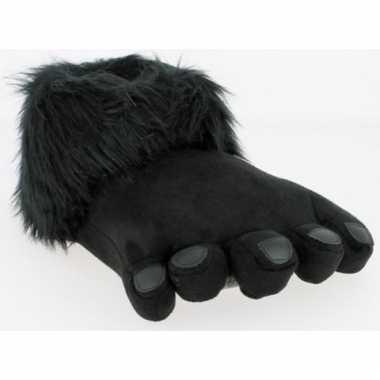 Zwarte gorillapoot sloffen voor heren