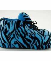 Zachte sloffen voor meisjes tijger blauw